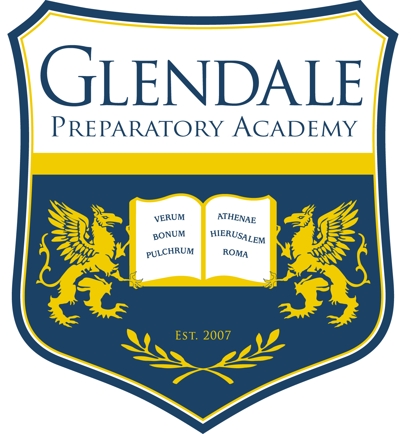 Great Hearts Glendale Prep, Serving Grades 6-12 School Crest